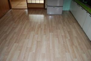 台所床の張替え