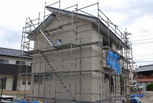 新築外壁サイディング施工