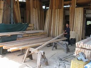 新築住宅の木材加工