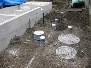 新築給排水設備配管工事