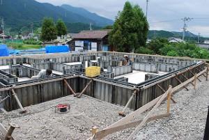 新築注文住宅の基礎工事