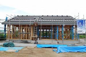 新築注文住宅の工事