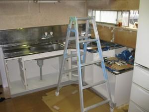 キッチン流し台の入れ替え
