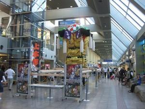 松山空港派遣展示