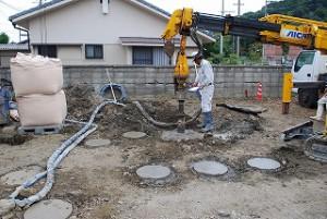 新築の地盤補強・柱状補強
