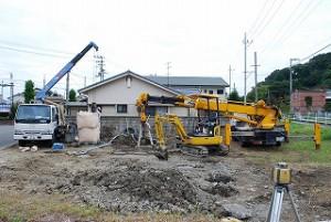 新築の地盤改良工事