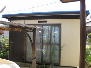 プレハブ倉庫の屋根修繕
