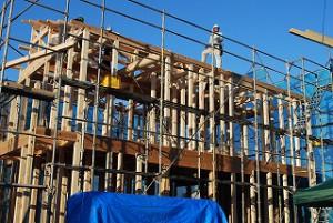 新築注文住宅の建前上棟