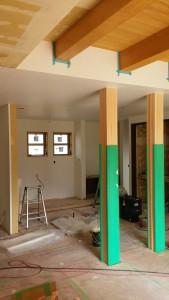 新築の檜梁