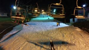娘とスノーボード