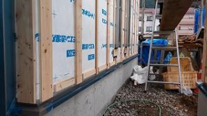 新築外壁通気下地