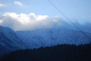 黒森山に積雪