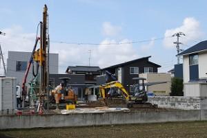 新築住宅の地盤柱状改良