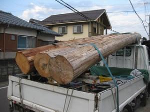構造用桧丸太原木