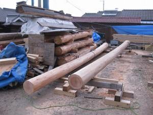 新築住宅の構造材躯体材の加工