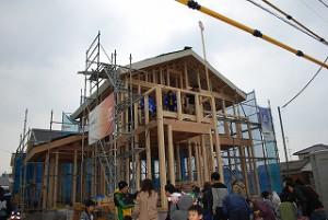 新築住宅の建前上棟
