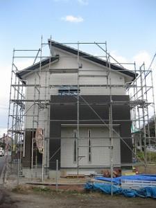 新築住宅のタイル外壁