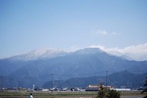 残雪の石鎚山系