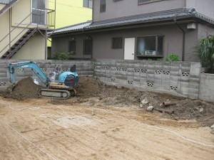 新築工事の準備