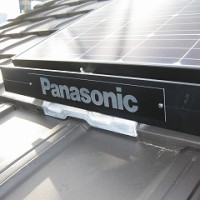新築工事の太陽光パネル