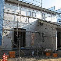 新築外壁の下地防水シート