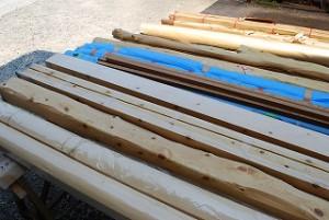 新築住宅の木材・化粧柱