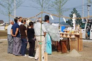 新築住宅の地鎮祭
