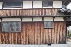 納屋の外壁張替え