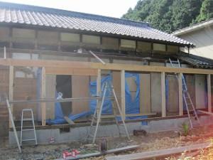 農家の旧家再生工事