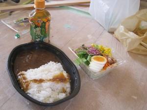 現場のお昼ご飯