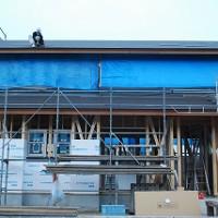 新築住宅の瓦葺き