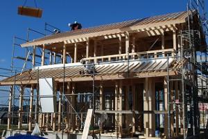 新築住宅の屋根仕舞い