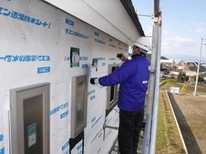 新築住宅の防水検査