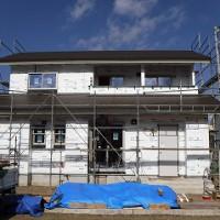 新築住宅の防水シート張り