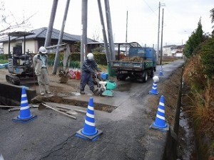 新築上水道引込み工事
