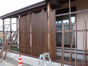 デザイン木造テラス