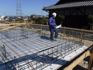新築住宅の基礎配筋