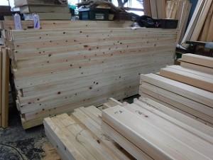 新築木材の墨付け・刻み