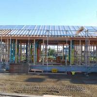 木造平屋建ての新築 建前を行いました。