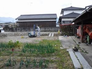 新築住宅の地盤強度の事前調査
