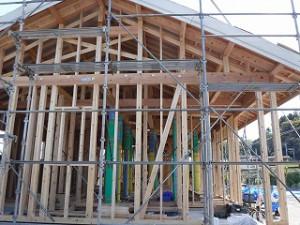 新築平屋建て構造躯体
