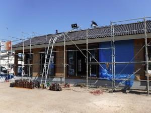 新築平屋建て屋根瓦葺き