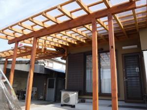 木造テラス取付工事