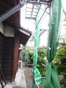 入母屋屋根の瓦葺き替え工事