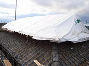 屋根瓦の葺き替え工事