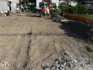 新築住宅の宅地造成工事