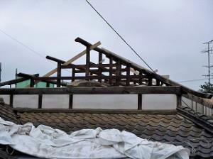 屋根和瓦の葺き替え解体工事