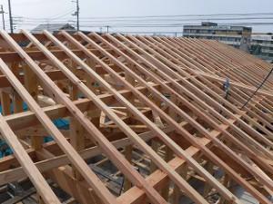 新築工事の建前
