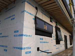 新築外壁下地シート検査