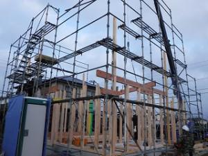 新築住宅の上棟